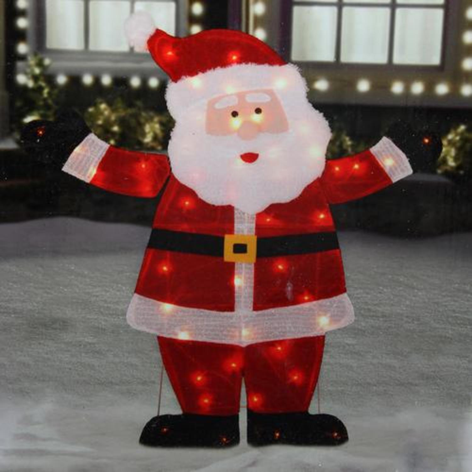 Large Lighted Pre Lit Santa Claus Outdoor Lights Christmas