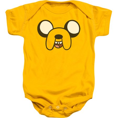 Adventure Time Boys' Jake Head Bodysuit Gold