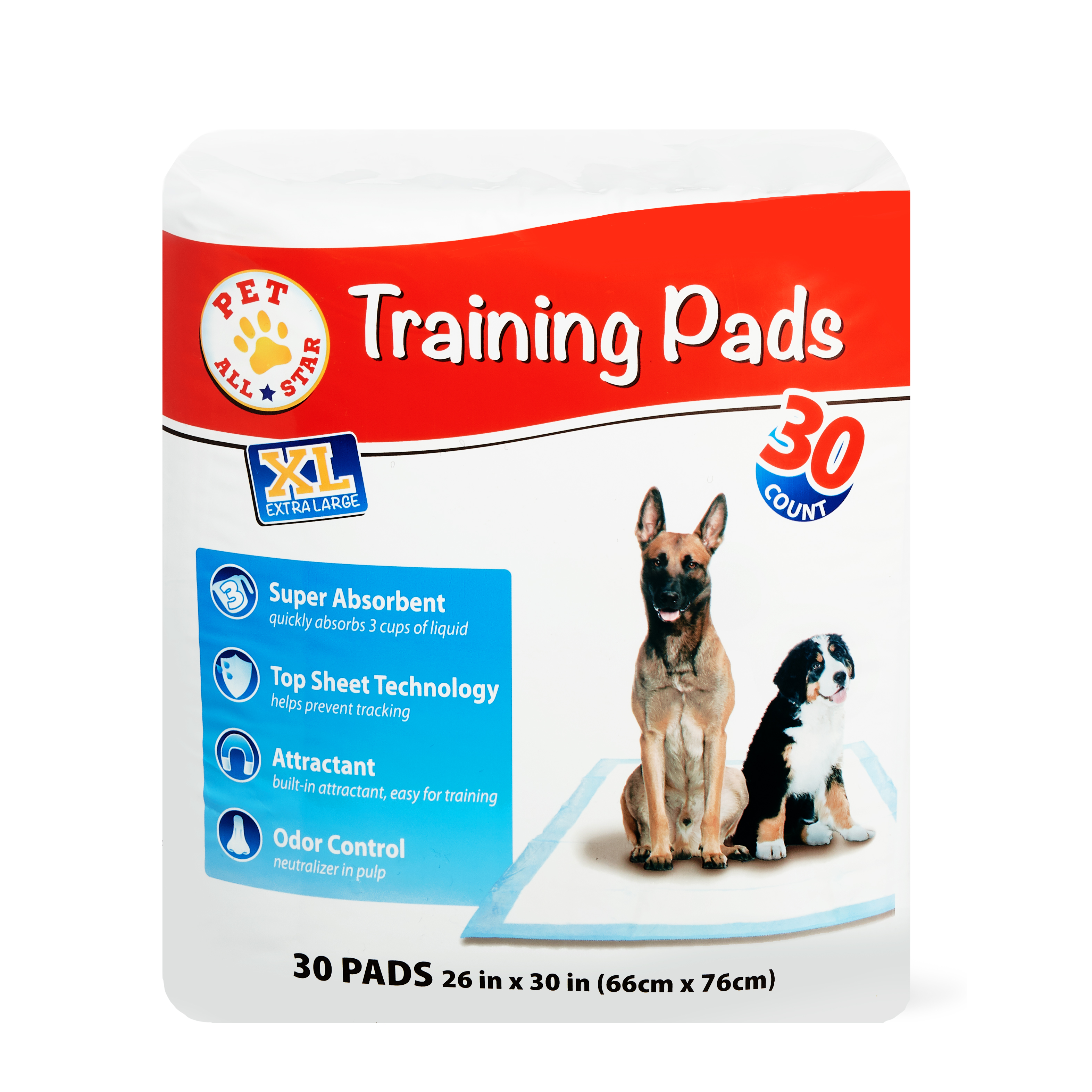 Pet All Star XL Training Pads, 30 Count
