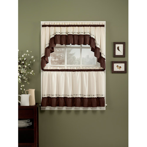 CHF & You Jayden Tailored Tier Curtain Panel, Set of 2