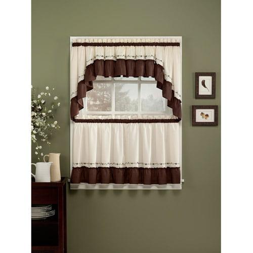 Chf & You Jayden Kitchen Curtains, Set Of 2 - Walmart.Com