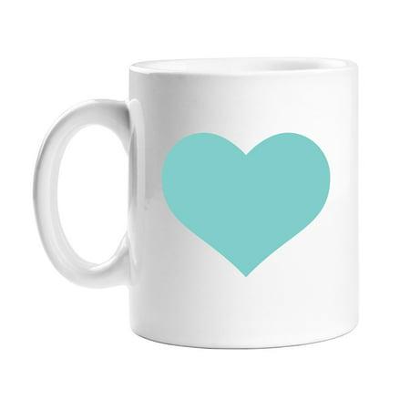 All Gifts Turquoise Heart Coffee Mug (Turquoise Blue Coffee Mugs)