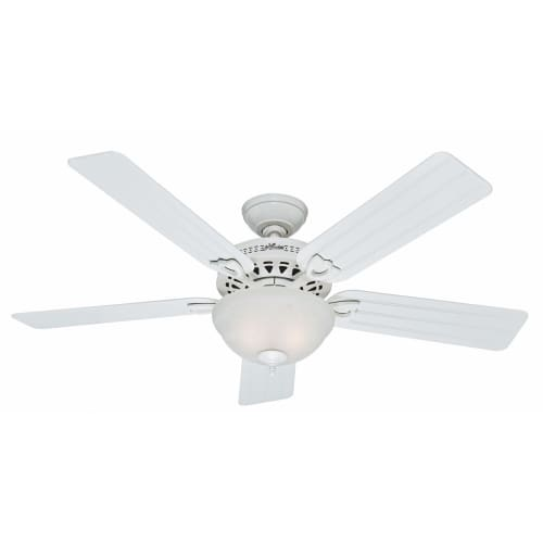 "hunter fan company 53122 beachcomber 52"" white ceiling fan with 5"