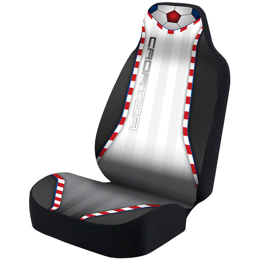 Coverking Universal Seat Cover Designer Ultra Suede, World Cup Croatia