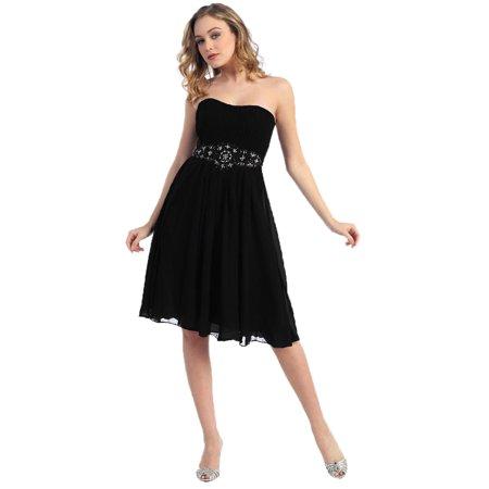 STRAPLESS SHORT BRIDESMAIDS DRESS - Red Undergarments