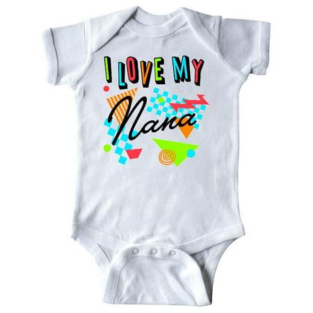 buy online 07bf0 aa48f I Love my Nana- 80s retro style Infant Creeper