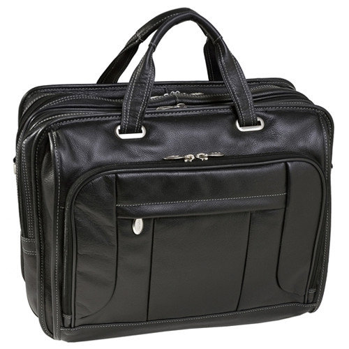McKlein USA S Series River West Leather Laptop Briefcase