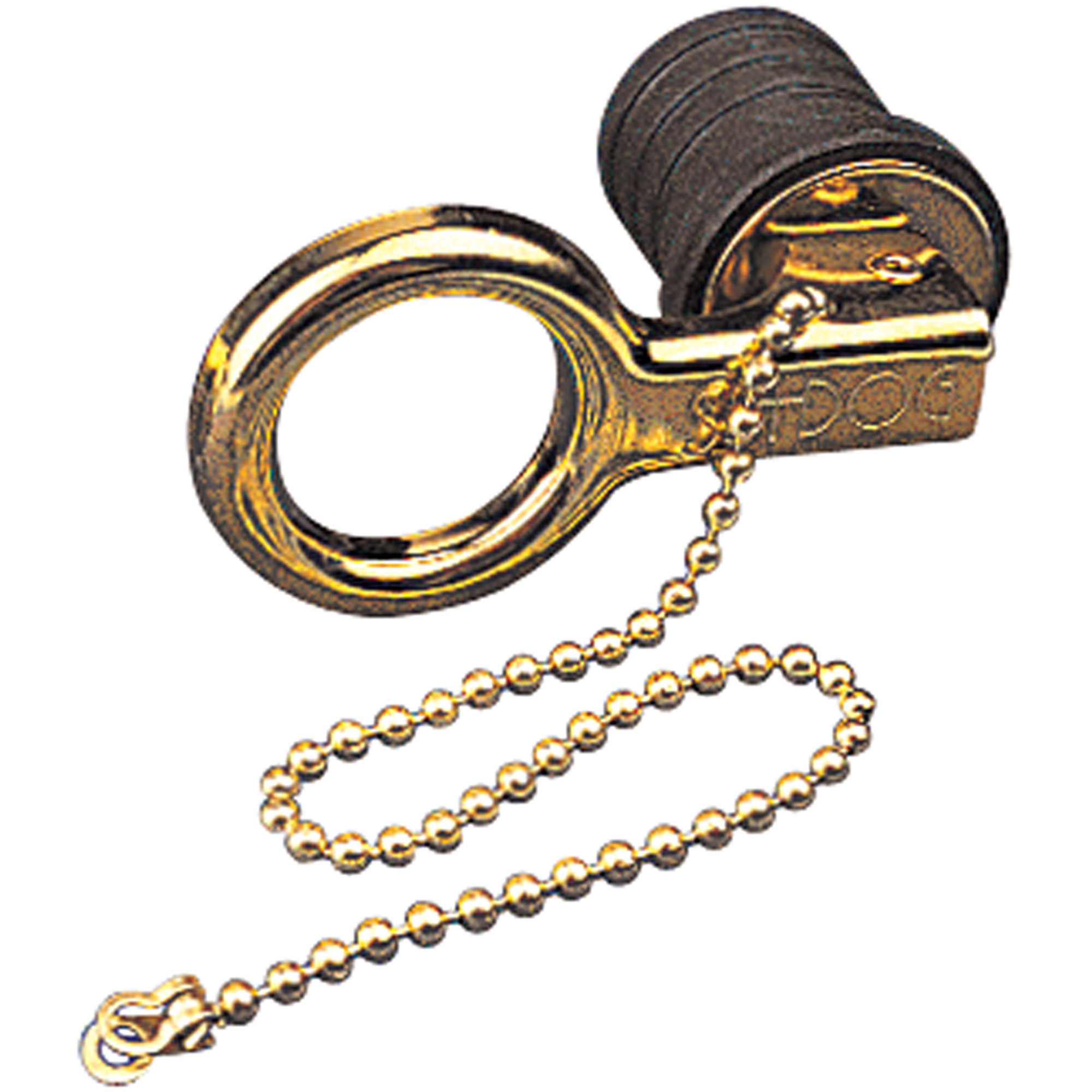 Sea Dog Snap Handle Drain Plug with Safety Chain, Brass