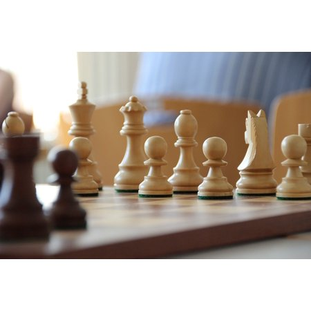 Chess Print (LAMINATED POSTER Chess Board Game Board Chess Pieces Chess Figures Poster Print 24 x 36 )