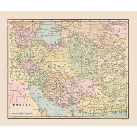 International Map Persia Cram 1892 27 35 X 23 Walmart Com