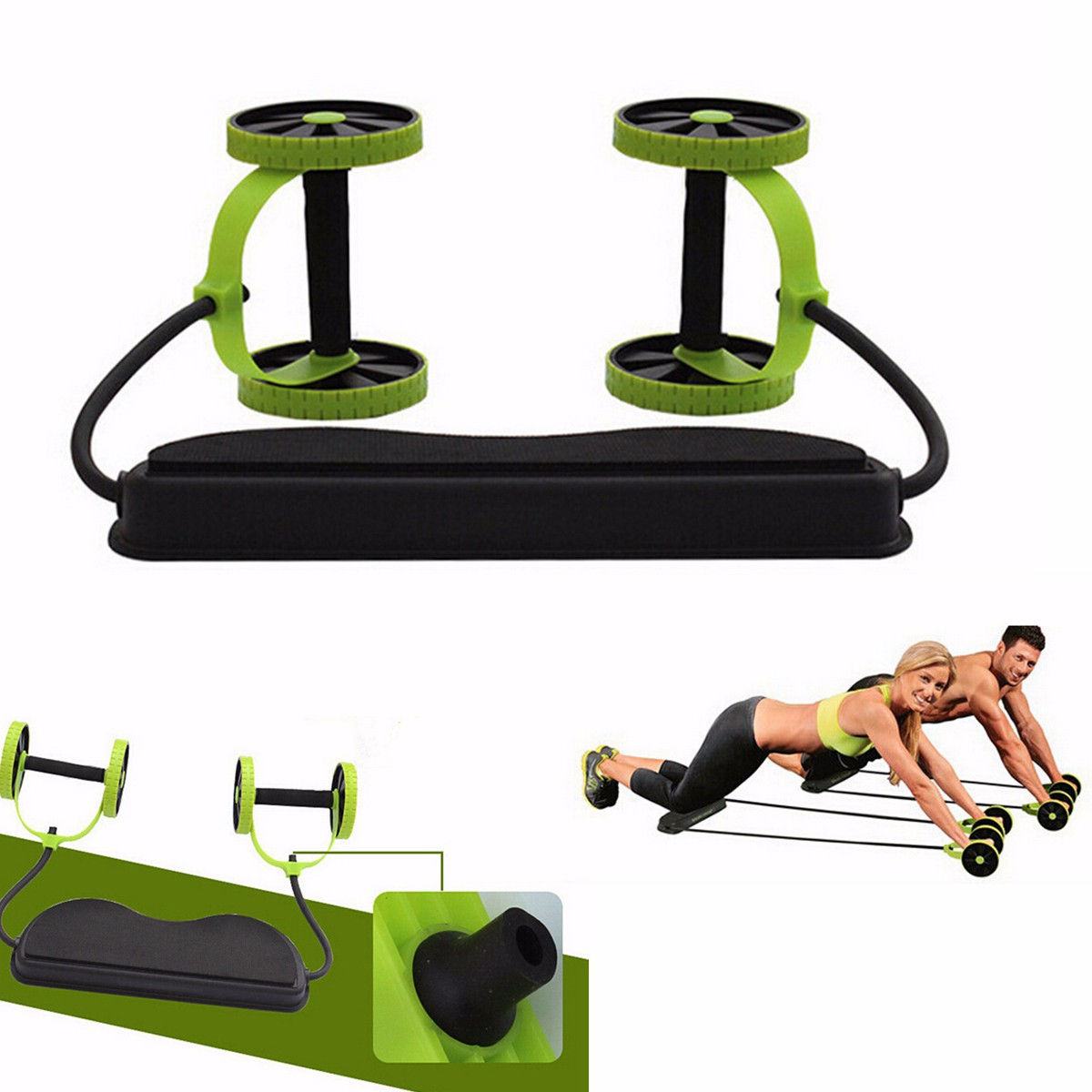 Lions/® Perfect Abs Wheel Abdominal Exerciser Power Roller Fitness Gym Workout