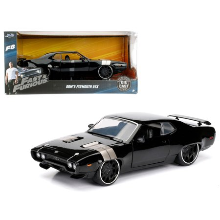 dom 39 s plymouth gtx fast furious f8 the fate of the furious movie 1 24 diecast model car by. Black Bedroom Furniture Sets. Home Design Ideas