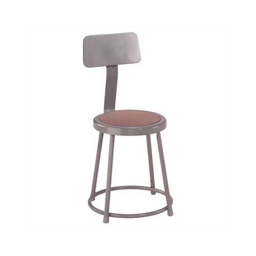 3-Pc Adjustable Backrest Stool with Gray Frame