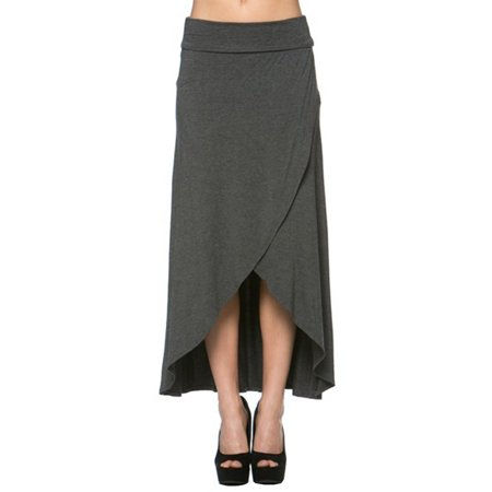 - Azules Women's High Low Hem Maxi Skirt