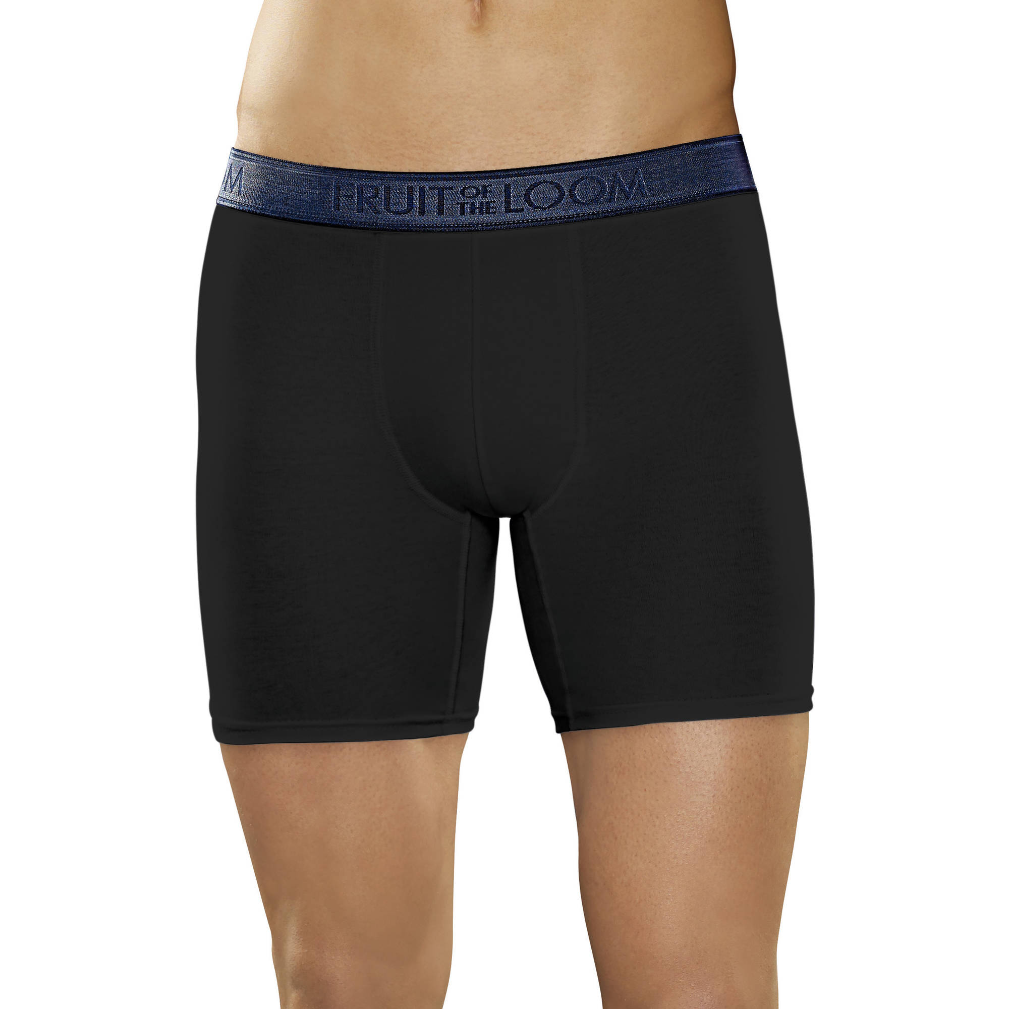 Fruit of the Loom Low Rise Black/Heather Gray Boxer Brief, 2 Pack
