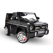 12V powered Mercedes AMG G65 Ride on electric car For Kids with Remote Control LED lights MP3 Leather Seat - Black