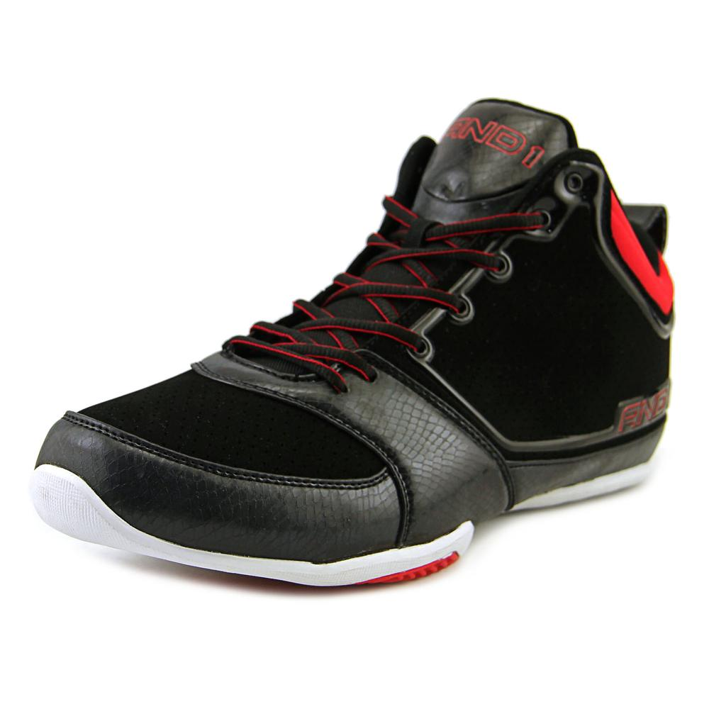 Image of And1 Theme Men Round Toe Synthetic Black Basketball Shoe