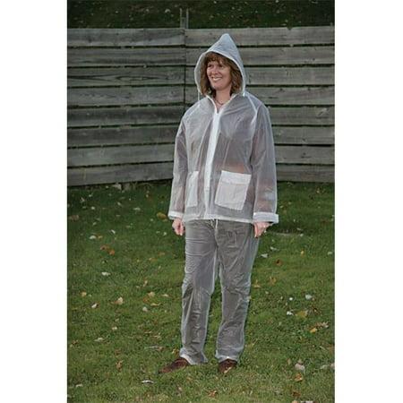 61107CM Rain Clear Vinyl Suit  3XL - 3 Piece