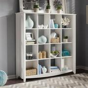 Bush Furniture Aero 16 Cube Bookcase/Room Divider in Pure White