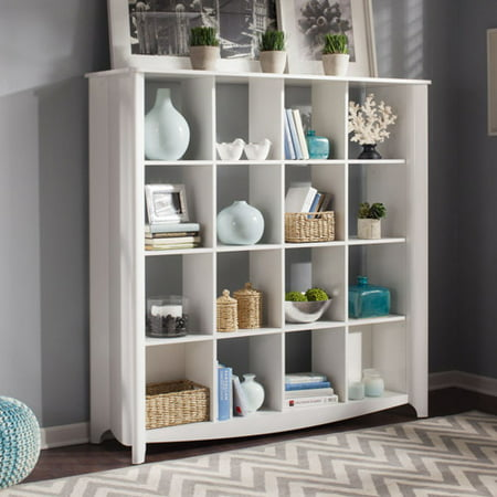 Bush Furniture Aero 16 Cube Bookcase Room Divider