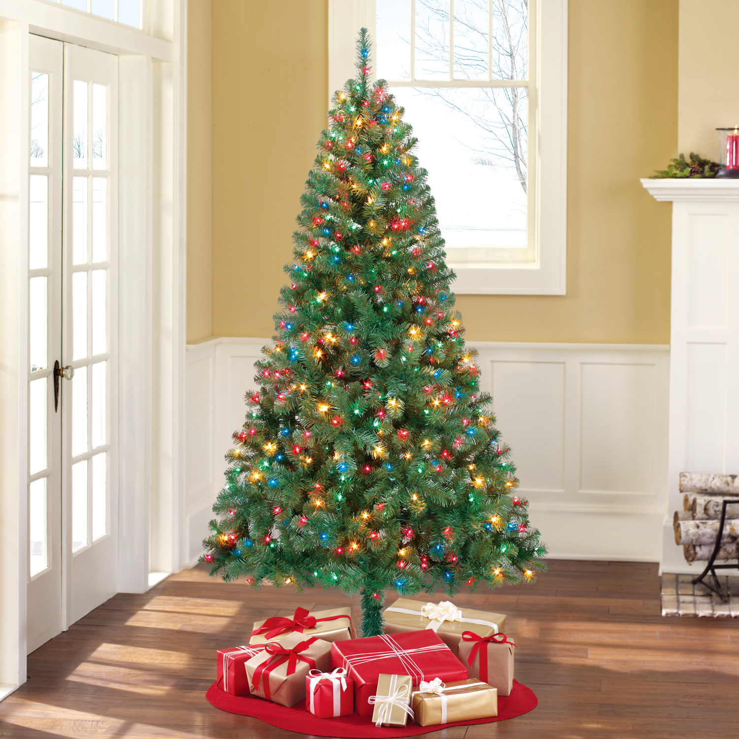 christmas tree clock and basket with diagram wiring diagram locholiday time pre lit 6 5\u0027 madison pine green artificial christmas christmas tree clock and basket with diagram