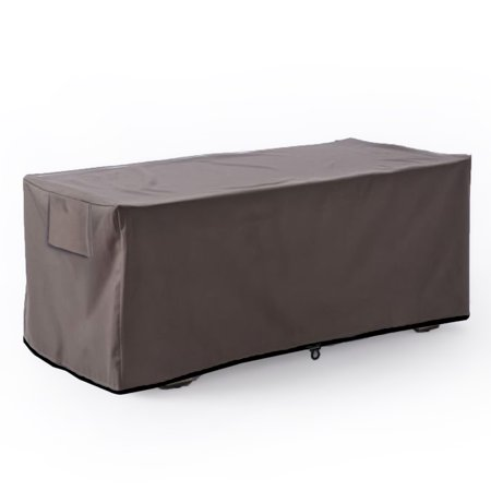 Leader Accessories Waterproof Deck Box/Storage Ottoman Bench Cover for Keter/Lifetime/Suncast/Rubbermaid Deck Box L-Size Rubbermaid Deck Box