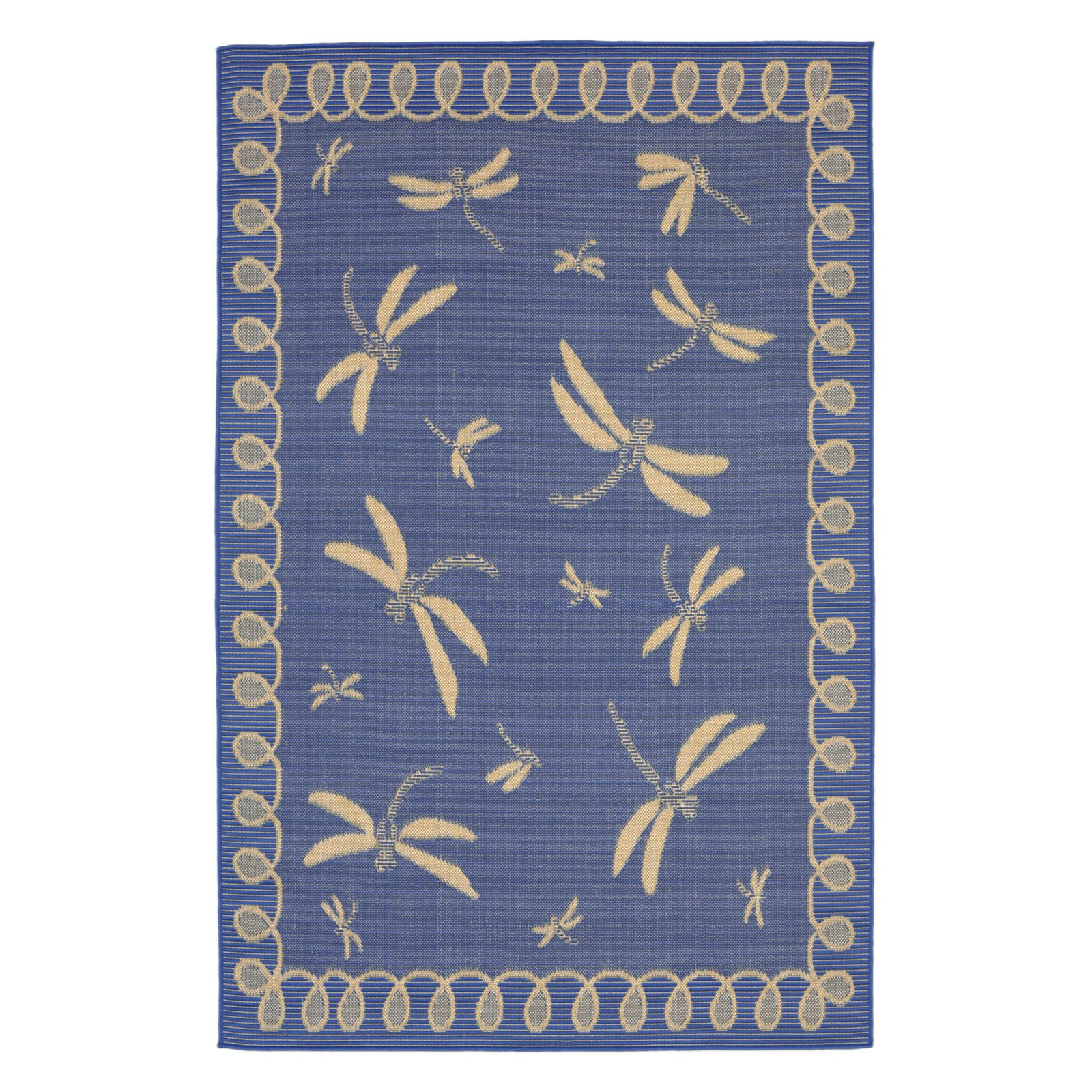 Liora Manne Terrace 1791/33 Dragonfly Marine Area Rug 7 Feet 10 Inches  Rd