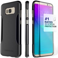SaharaCase Galaxy S8 Plus Case, Classic Protection Kit with ZeroDamage Tempered Glass – Black