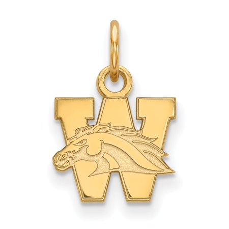 Michigan Outdoor Pendant - Solid 925 Sterling Silver with Gold-Toned Western Michigan University Extra Small Pendant