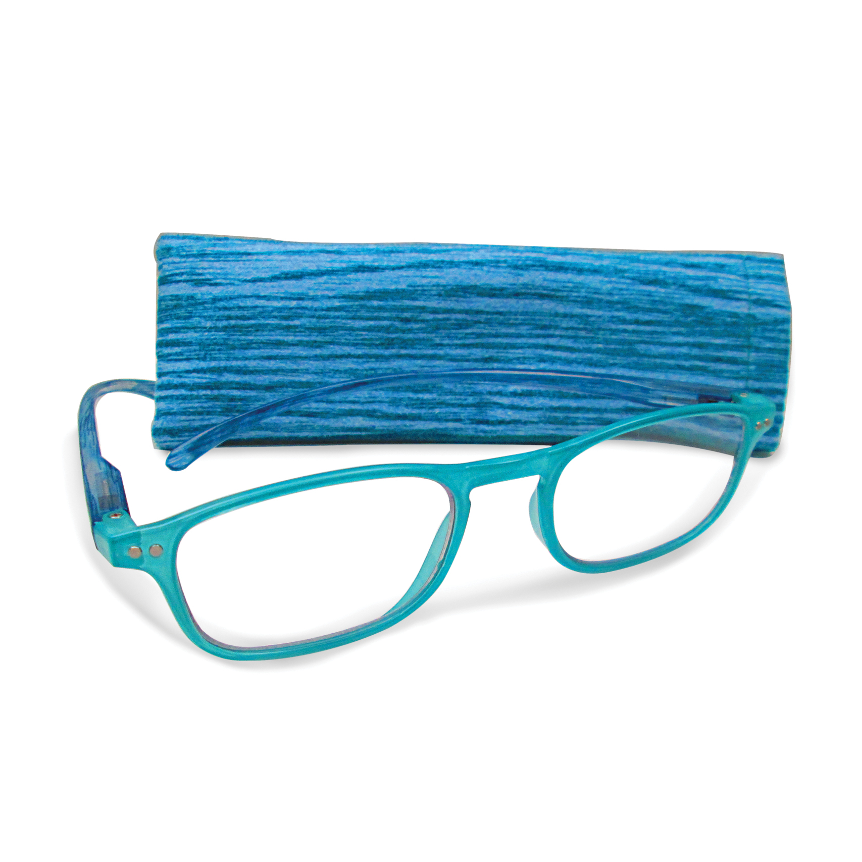 Blue +2.75 Magnification Reading Glasses