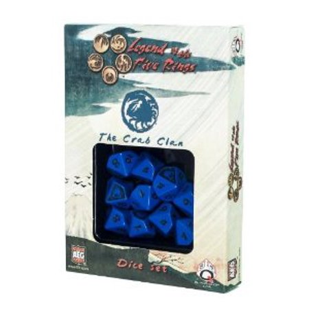 Legend of the Five Rings: AEG L5R Dice Set - Crab Clan (10) Multi-Colored