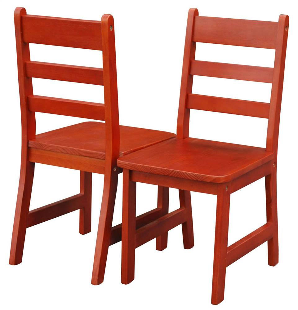 Children Chair in Cherry Finish - Set of 2