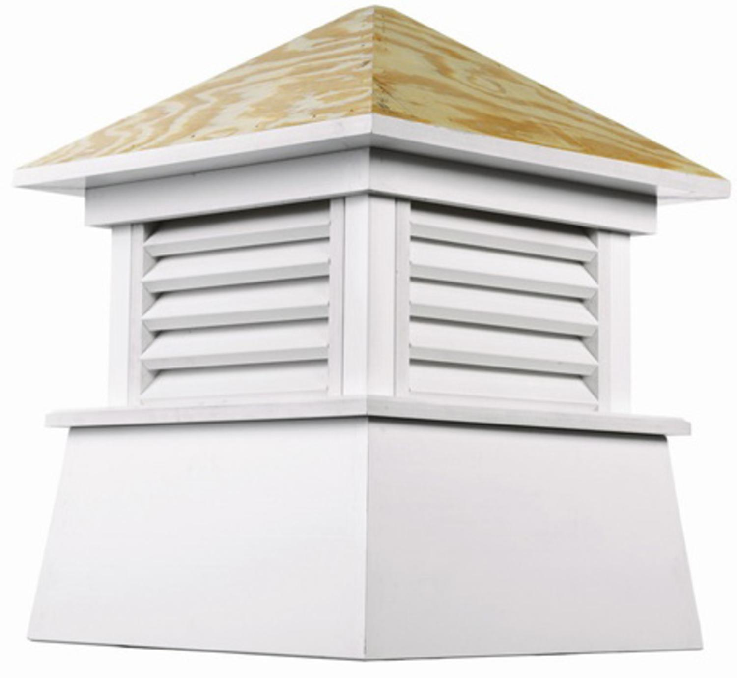 """123"""" Handcrafted """"Kent"""" Wood and Vinyl Roof Cupola"""