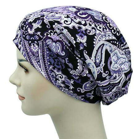 Satin Lined Sleep Slouchy Cap Curly Girl Slap Headwear
