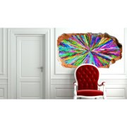 Startonight 3D Mural Wall Art Photo Decor Colored Hypnotic Amazing Dual View Surprise Wall Mural Wallpaper for Bedroom Abstract Wall Art Gift Large 47.24 '' By 86.61 ''