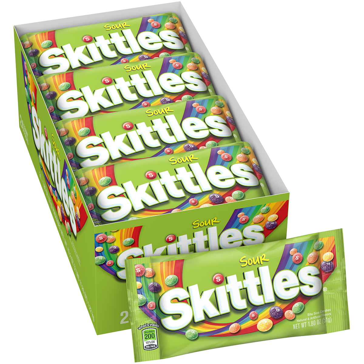 Skittles Sour Candy, 1 8 ounce (24 Single Packs)