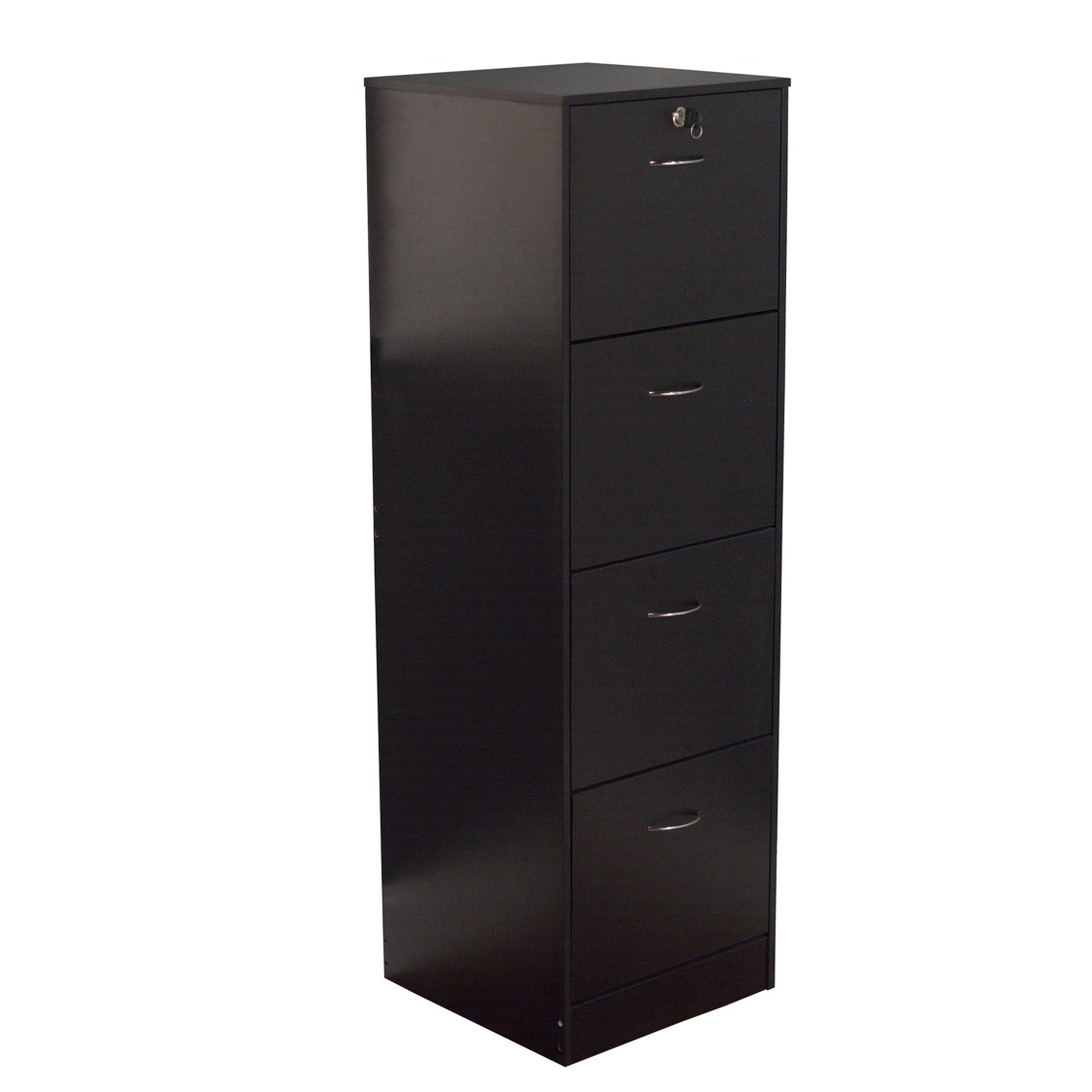 wilson 4 drawer wood vertical lockable filing cabinet black rh walmart com