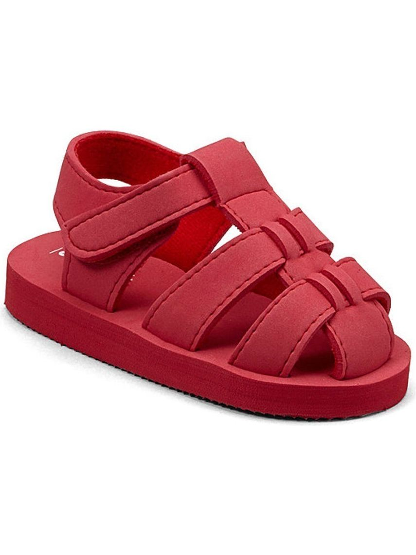 Baby Girls Red EVA Foam Fisherman Sandals 5-10 Toddler