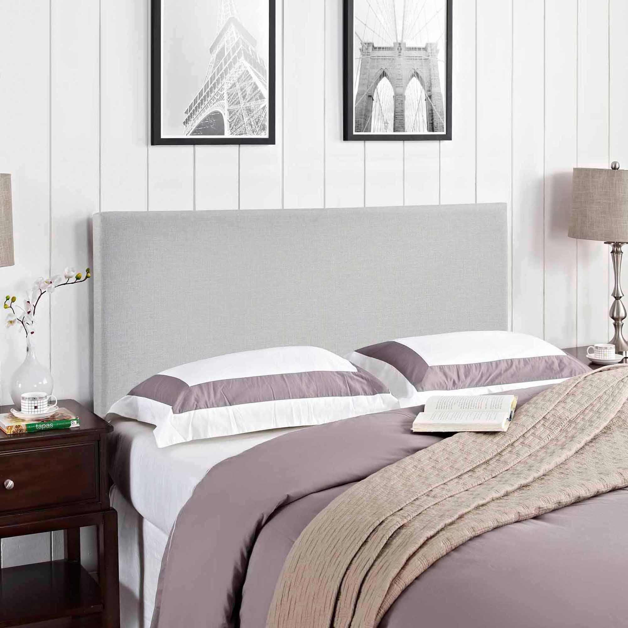 modway region queen upholstered headboard multiple colors  - modway region queen upholstered headboard multiple colors  walmartcom
