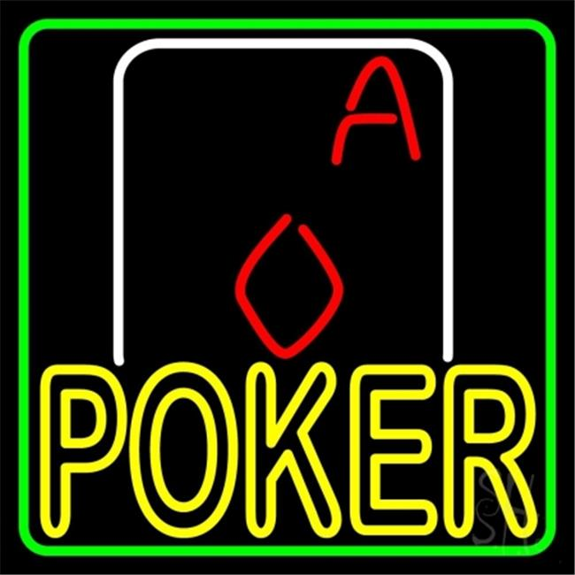 neon green aces cards poker