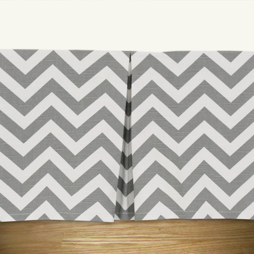 Brite Ideas Living Zig Zag Pleated Bed Skirt