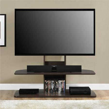 Ameriwood Home Galaxy Dark Walnut 65 Inch Tv Stand With
