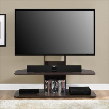 Ameriwood home galaxy dark walnut 65 inch tv stand with for Best 65 inch tv mount