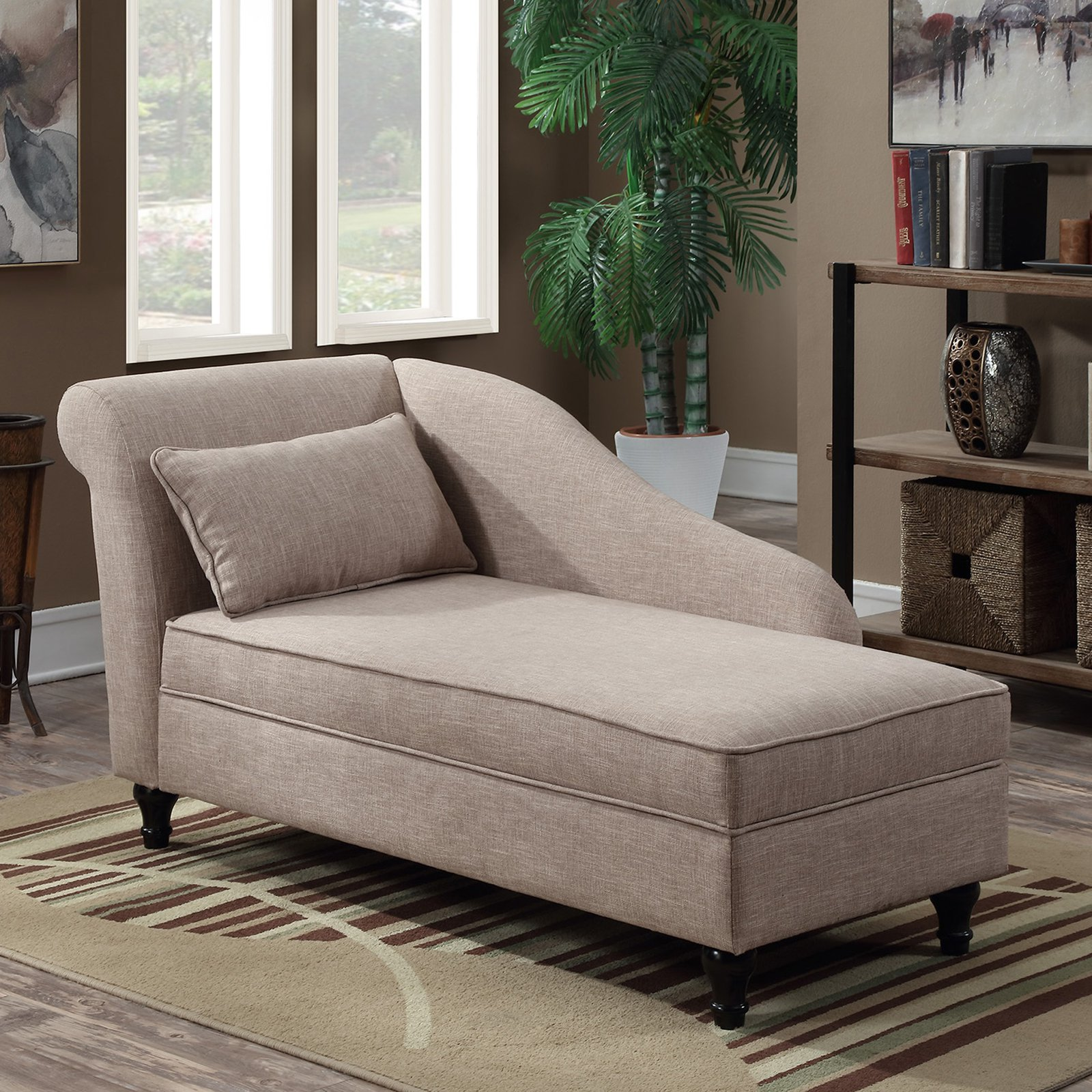 Convenience Concepts Designs4Comfort Cleo Lounge Ottoman with Storage