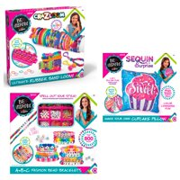 3-in-1 Cra-Z-Art Be Inspired Fashion and Jewelry Kit: Includes 1 Fashion Beads Set, 1 Make Your Own Sequin Pillow Kit, and 1 Crazy Loom Kit, Gift for Kids