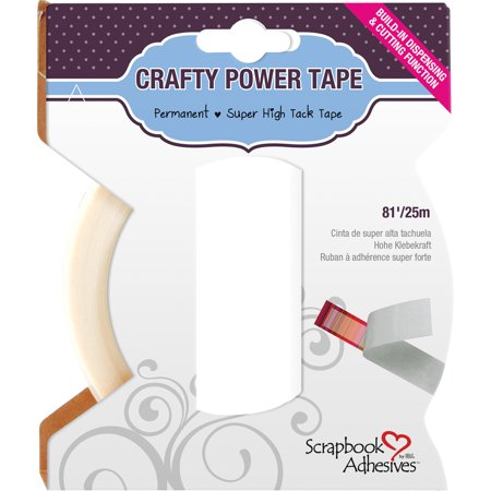 Scrapbook Adhesives Crafty Power Tape W/Dispenser-.25