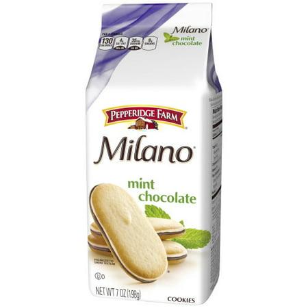 (3 Pack) Pepperidge Farm Milano Mint Chocolate Cookies, 7 oz. Bag