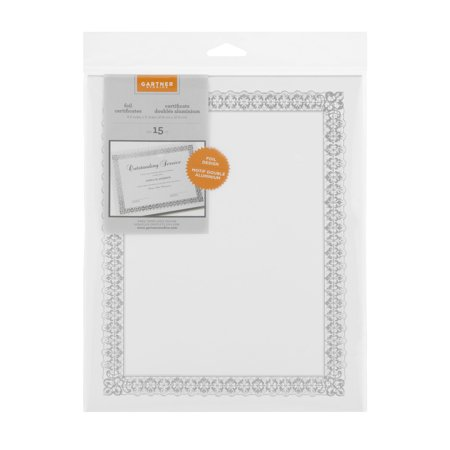 Gartner Studios Silver Border Certificates
