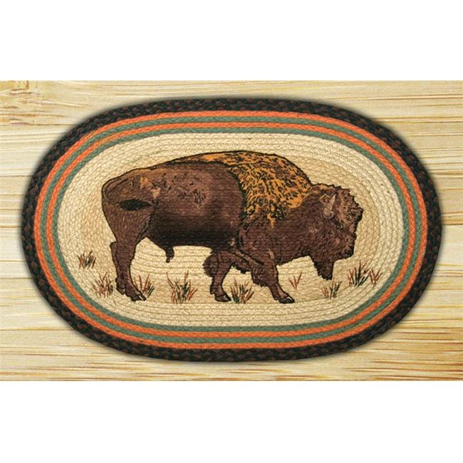 Capitol Importing 65-240B Buffalo - 20 in. x 30 in. Oval Patch