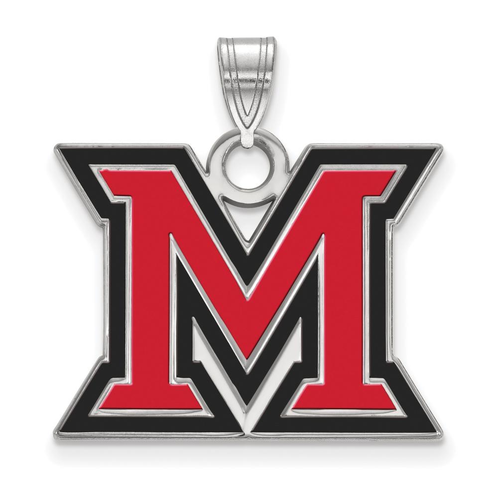 Miami Large (3/4 Inch) Enamel Pendant (Sterling Silver)
